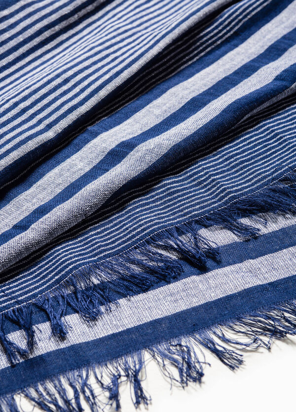 Striped scarf in cotton and viscose | OVS