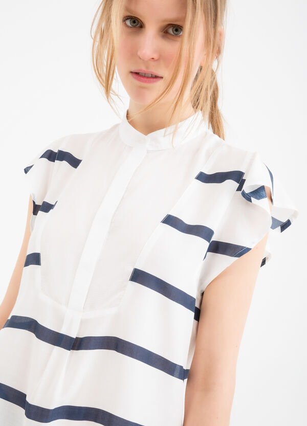 Blouse in 100% viscose with striped pattern | OVS