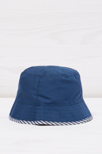 Patterned fishing hat, White/Blue, hi-res