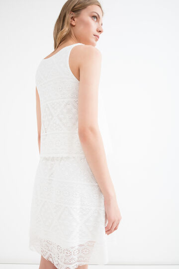 Short openwork dress, White, hi-res