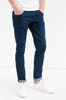 Solid colour, slim-fit stretch jeans, Denim, hi-res