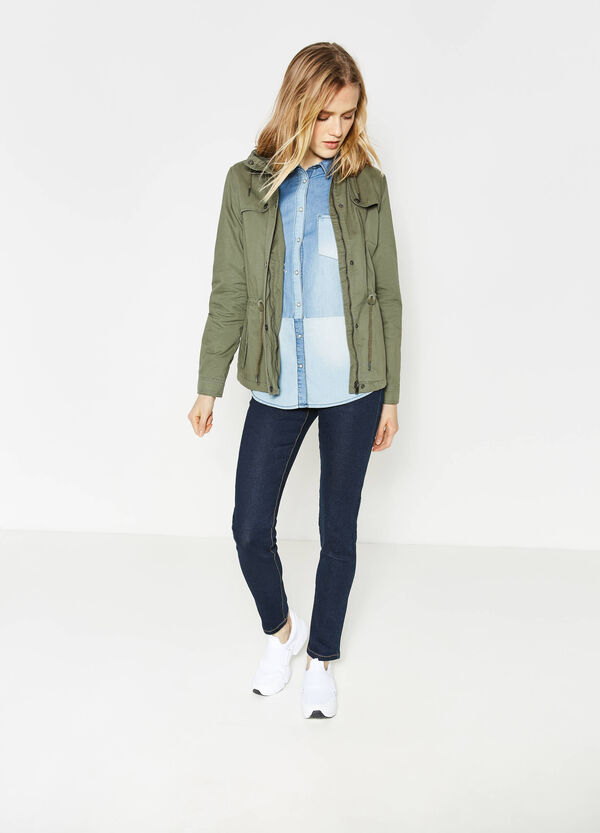 Parka with hood and drawstring | OVS