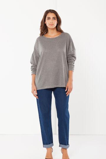 Curvy maxi T-shirt, Grey Marl, hi-res