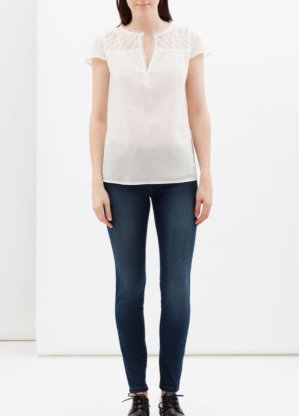Blouse with openwork inserts | OVS