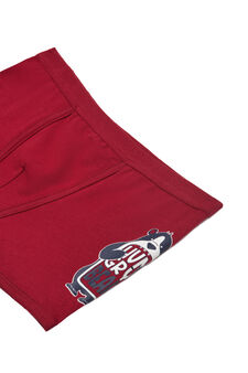 Stretch cotton printed boxers, Red, hi-res