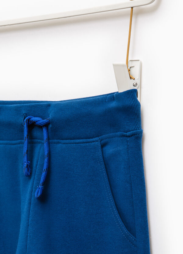 Cotton joggers with ribbing | OVS