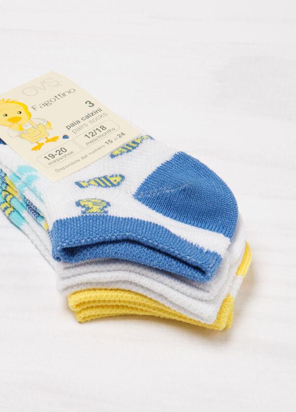 Set tre paia di calze corte cotone | OVS