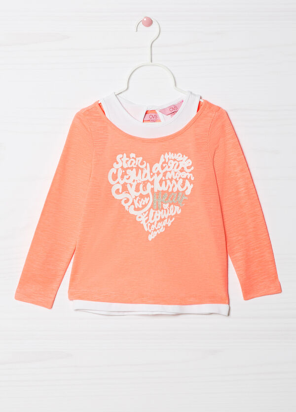 Stretch cotton overlay top  | OVS
