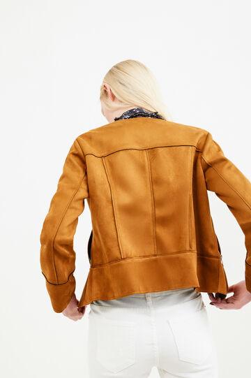 Suede look jacket, Camel, hi-res