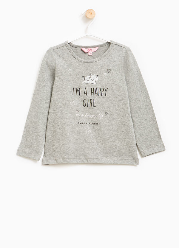 Maxi print T-shirt in 100% cotton | OVS