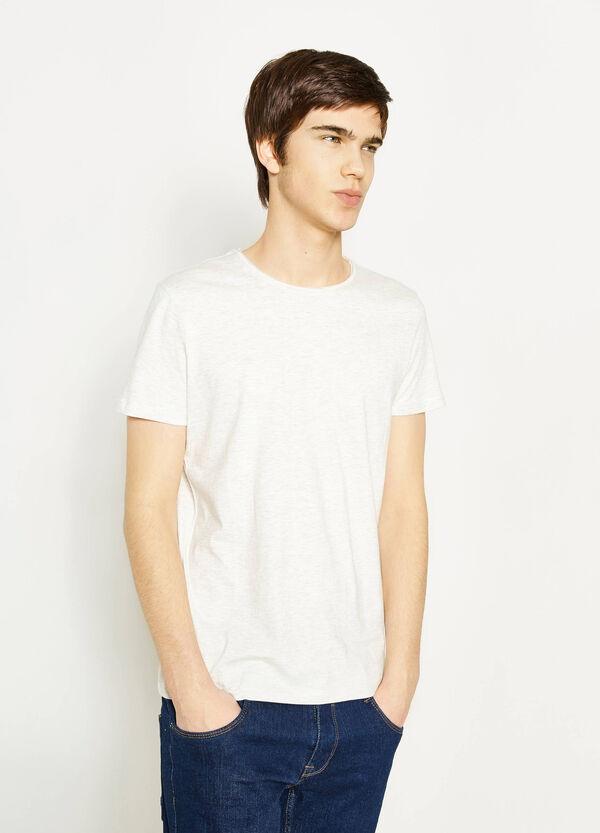 Solid colour cotton blend T-shirt   OVS