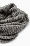 Scaldacollo tricot a maglia larga, Grigio melange, hi-res