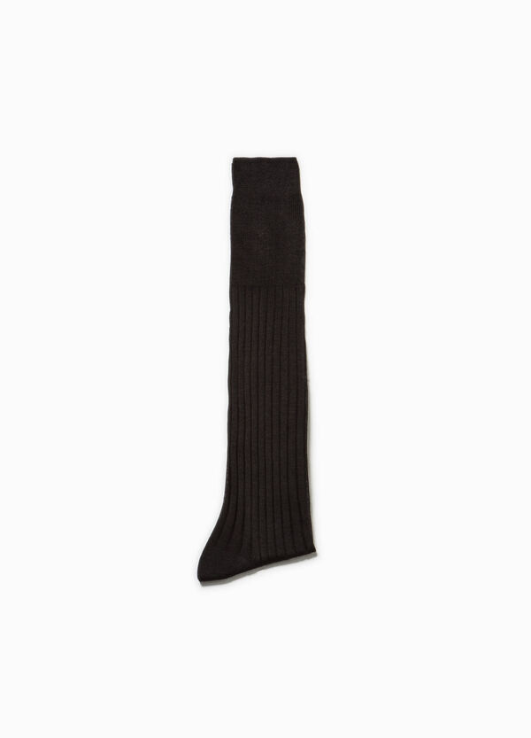 Long cotton socks with ribbed cotton | OVS