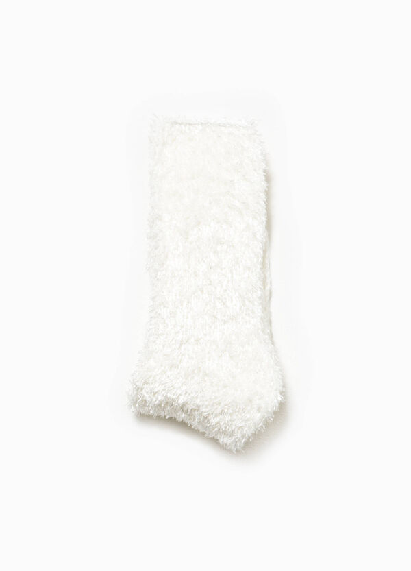 Short stretch socks with faux fur | OVS