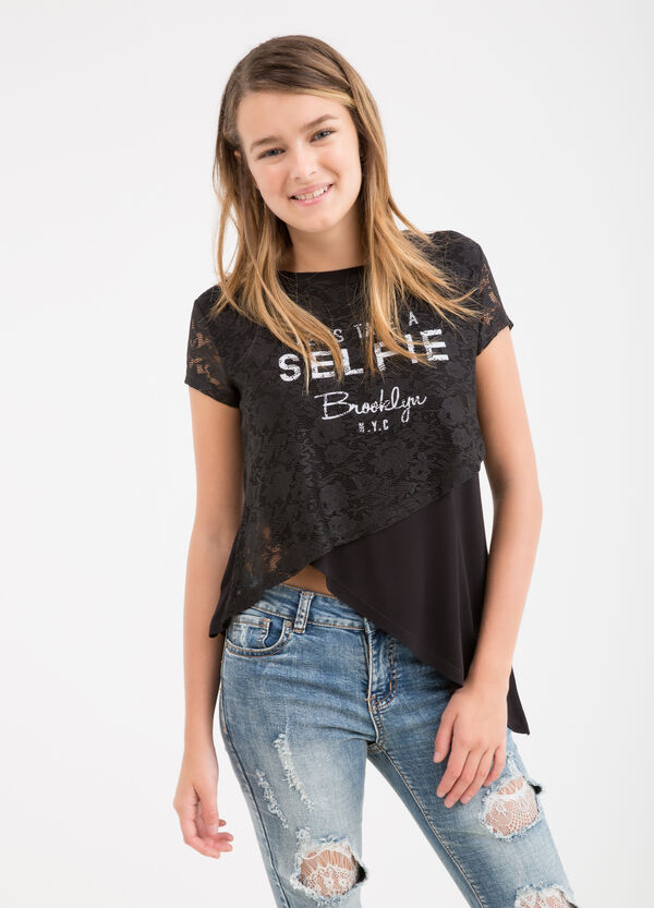 Asymmetric Teen T-shirt in viscose | OVS