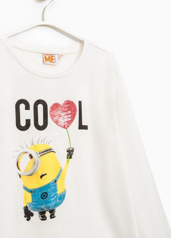 T-shirt stampa Minions con paillettes   OVS