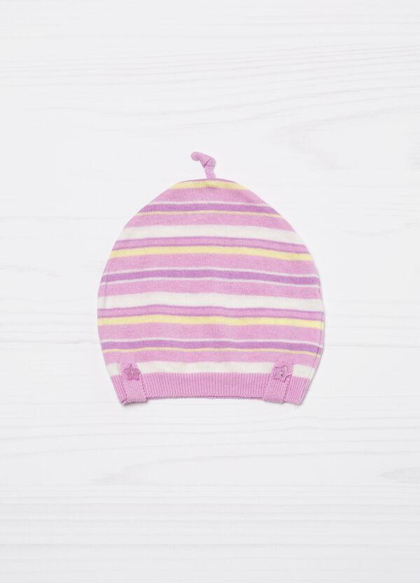 Striped cotton beanie cap | OVS