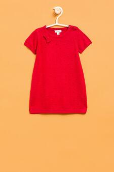 Dotted viscose blend dress., Red, hi-res