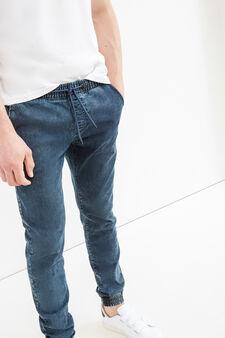 Slim-fit stretch jogger jeans, Denim, hi-res