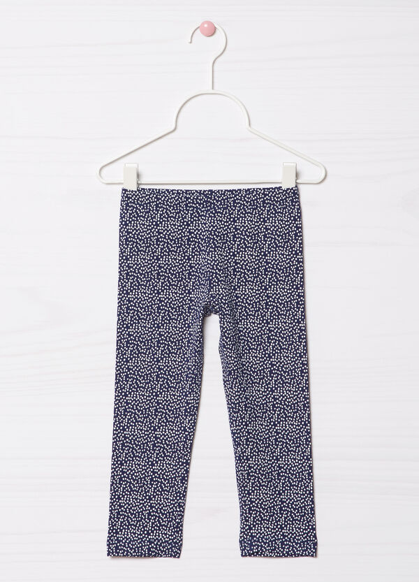 Leggings cotone stretch fantasia | OVS