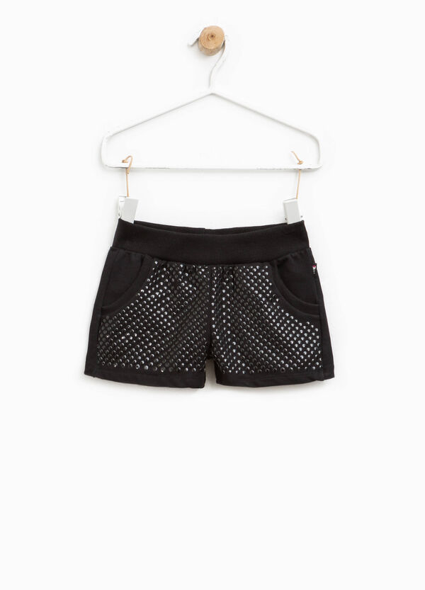 Shorts in cotone con borchiette | OVS