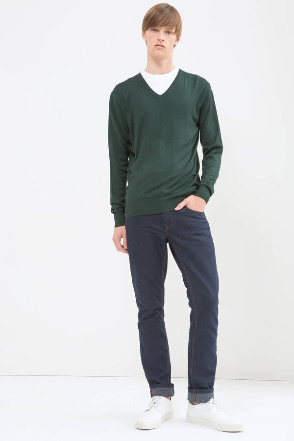Solid colour V-neck pullover | OVS