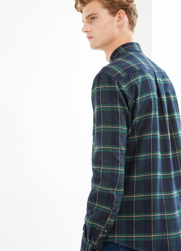 Casual check shirt with button down collar | OVS