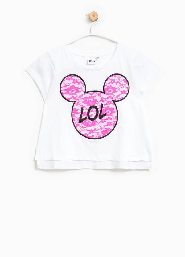 T-shirt con ricami Mickey Mouse | OVS