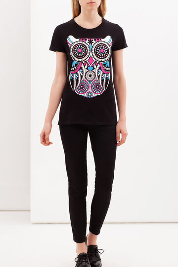 T-shirt stampata, Nero, hi-res