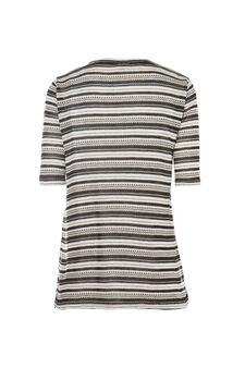 Smart Basic striped T-shirt, Black/White, hi-res