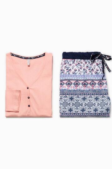 Pigiama maglia e pantaloni, Blu/Rosa, hi-res