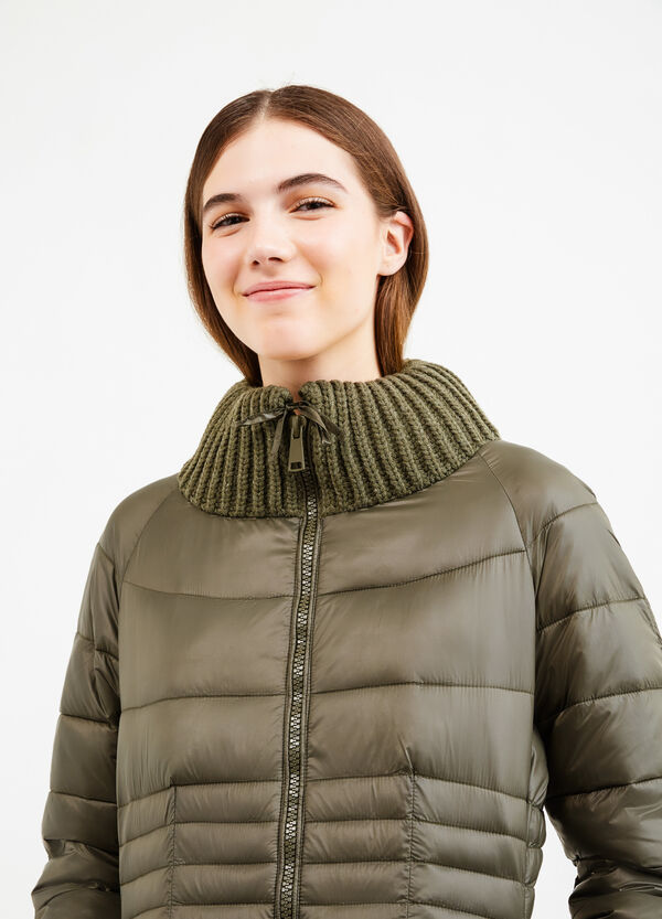 Down jacket with high ribbed neck | OVS