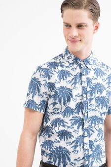 G&H printed shirt in 100% cotton, White, hi-res