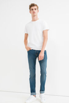 Jeans regular fit effetto used, Denim, hi-res
