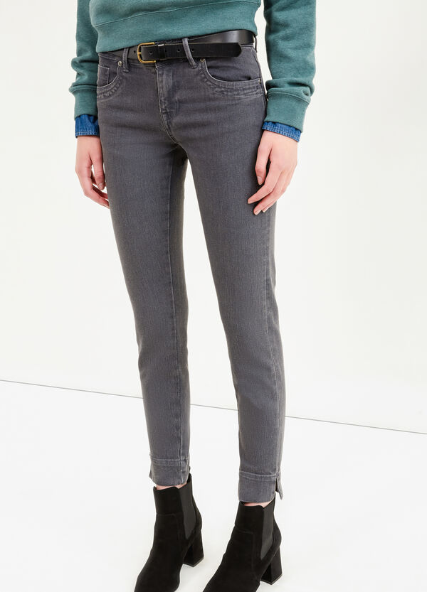 Slim-fit jeans with ankle splits | OVS
