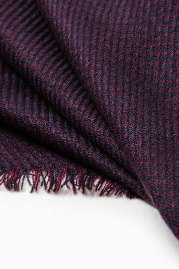 Sciarpa bordo sfrangiato tricot, Blu, hi-res
