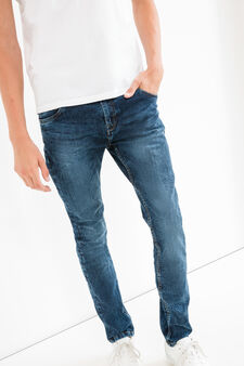 Used super skinny fit jeans, Dark Wash, hi-res