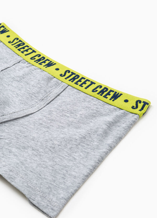 Solid colour boxer shorts with embroidered lettering | OVS
