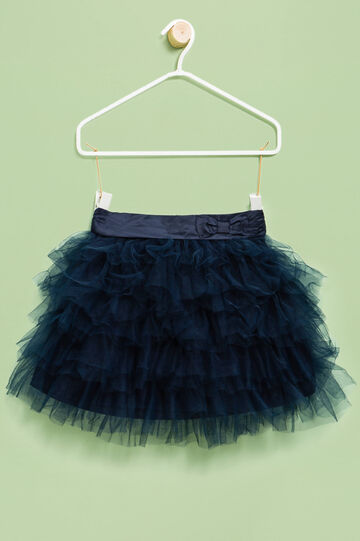 Flounced tulle skirt, Blue, hi-res