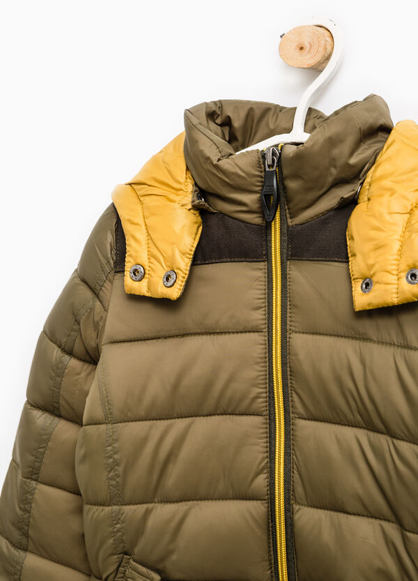 Down jacket with removable hood | OVS