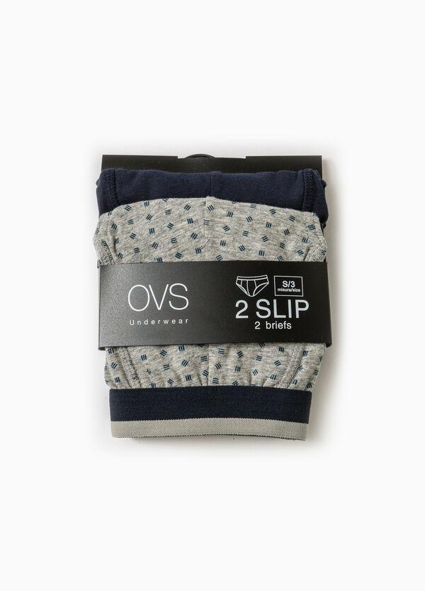 Set due slip cotone unito e fantasia | OVS