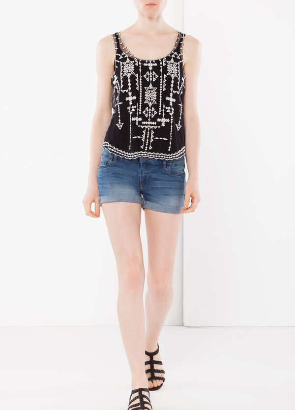 Denim shorts with turn-up hems | OVS