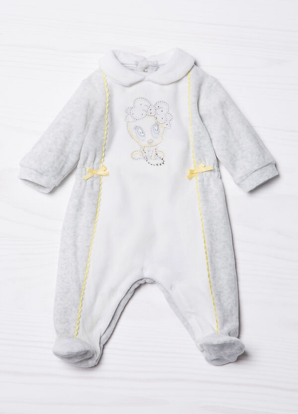 Onesie with Tweetie Pie embroidery in contrasting colour. | OVS