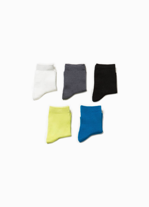 Five-pair pack solid colour socks | OVS