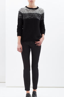 Jeans stretch tinta unita, Nero, hi-res