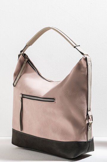Hammered-effect shoulder bag