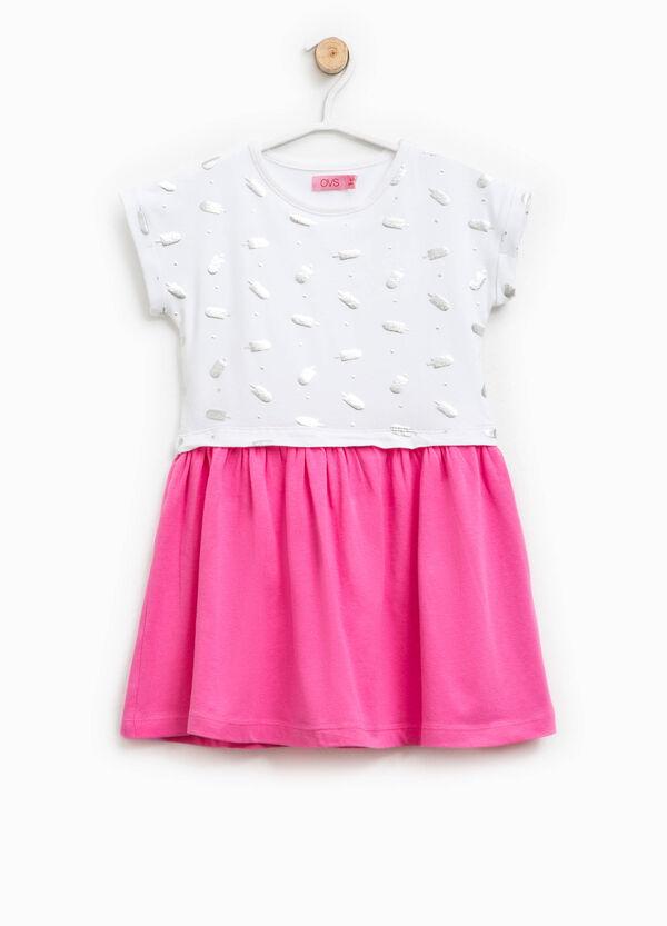 Dress with glitter pattern | OVS