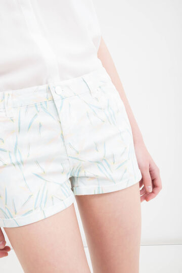 5-pocket stretch shorts, Light Blue, hi-res