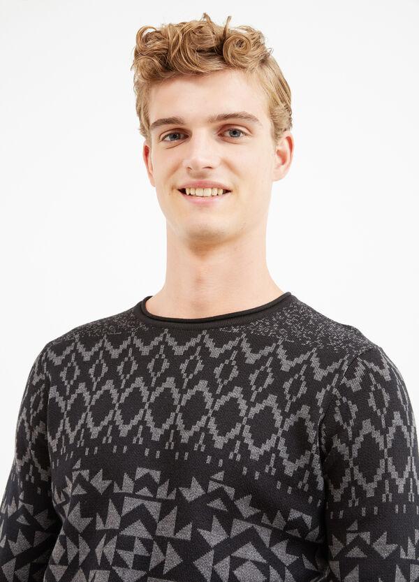 Pullover cotone jacquard fantasia | OVS