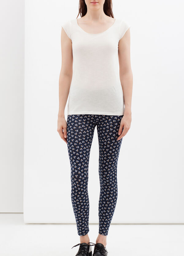 Stretch leggings with all-over print. | OVS